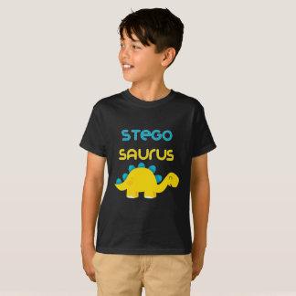 Cute Little Dino Family Stegosaurus Kids T-shirt