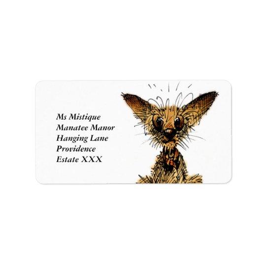 Cute little dog address label