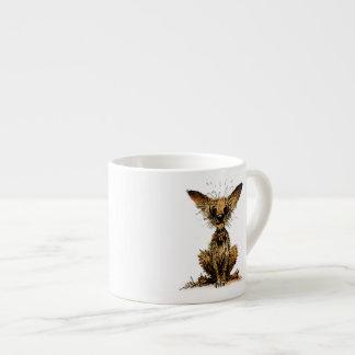 Cute little dog espresso cup