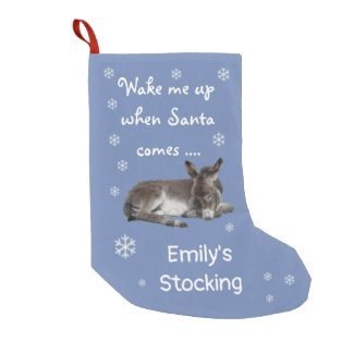 Cute Little Donkey Small Christmas Stocking