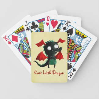 Cute Little Dragon Bicycle Playing Cards