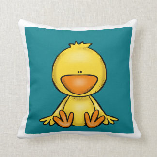 Cute little duck throw pillow