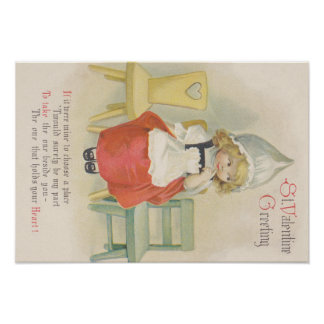 Cute Little Dutch Girl Chairs Poster