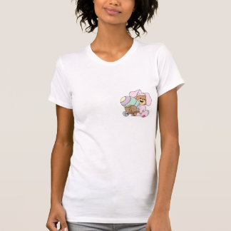 cute little easter bunny bear with giant easter eg t shirt