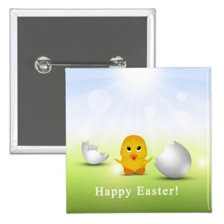 Cute Little Easter Chick - Button