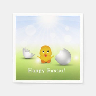 Cute Little Easter Chick - Paper Napkin