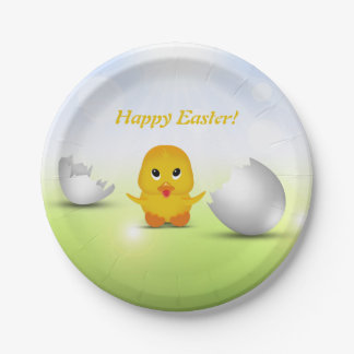 Cute Little Easter Chick - Paper Plate
