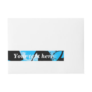 Cute little fairy with dragon in the night wraparound address label
