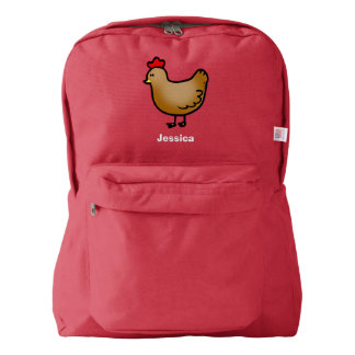 cute little farm chicken hen backpack