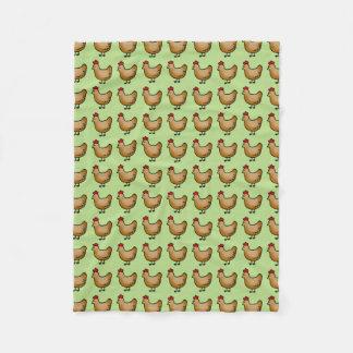 cute little farm chicken hen pattern fleece blanket