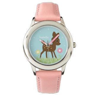 Cute Little Fawn Personalized Wrist Watch