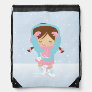 Cute Little Figure Skater Backpacks