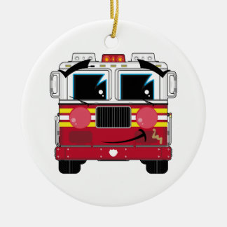Cute Little Fire Engine Ornament