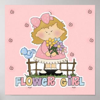 Cute Little Flower Girl Print