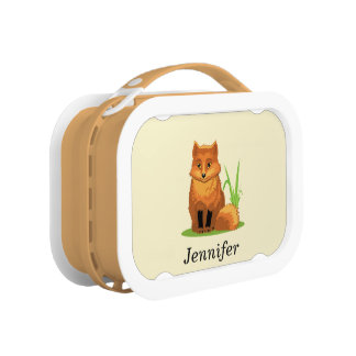Cute Little Fox Back to School Lunch Box