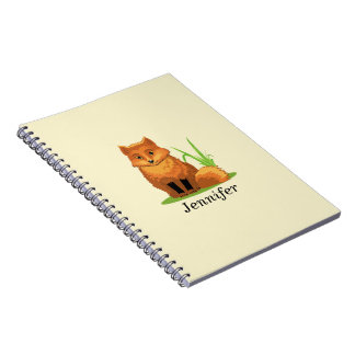 Cute Little Fox Back to School Spiral Notebook