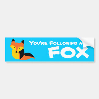 Cute little Fox Car Bumper Sticker