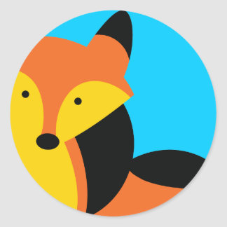 Cute little Fox Classic Round Sticker