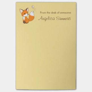 Cute Little Fox Post-it® Notes