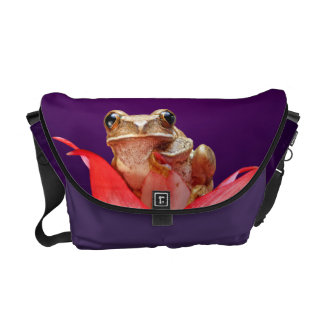 Cute Little Frog Marbled Reed Frog Deep Purple Commuter Bag
