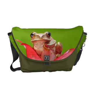 Cute Little Frog Marbled Reed Frog Green Hues Courier Bag