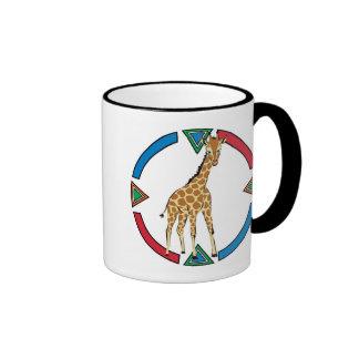 Cute Little Giraffe Ringer Coffee Mug