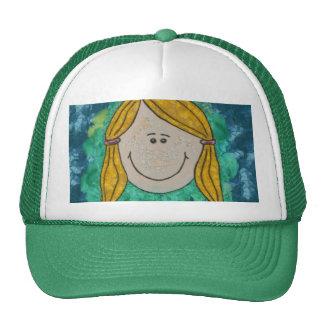 Cute Little Girl Drawing Cap