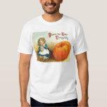 Cute Little Girl Field Pumpkin Tshirts