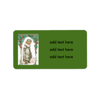 Cute Little Girl Holly Address Label