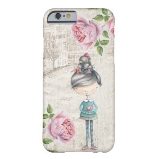 Cute little Girl in a old Town Barely There iPhone 6 Case