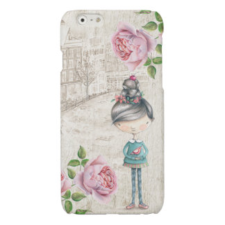 Cute little Girl in a old Town iPhone 6 Plus Case