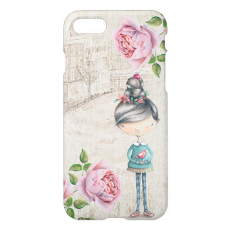 Cute little Girl in a old Town iPhone 7 Case