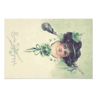 Cute Little Girl Shillelagh Green Photo Print