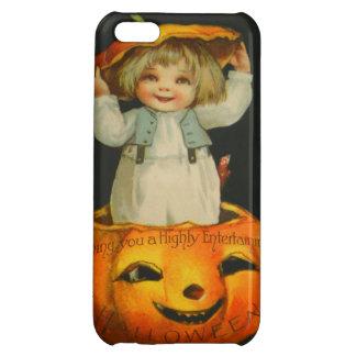 Cute Little Girl Smiling Jack O' Lantern Pumpkin iPhone 5C Cases