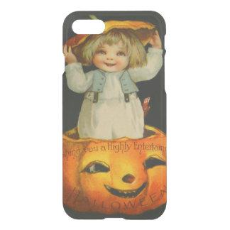 Cute Little Girl Smiling Jack O' Lantern Pumpkin iPhone 7 Case