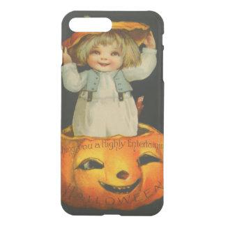 Cute Little Girl Smiling Jack O' Lantern Pumpkin iPhone 7 Plus Case