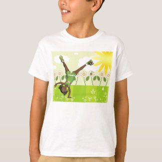 Cute little girl t shirt with roller scates