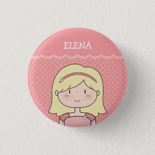 Cute Little Girl with Name (Customisable) -- PINK