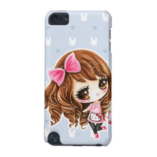 Cute little girl with pink big bow iPod touch (5th generation) covers