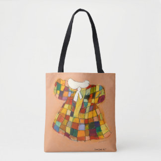 Cute little girl's patterned dress tote bag