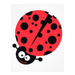 cute little goofy ladybug with lots of spots personalized flyer