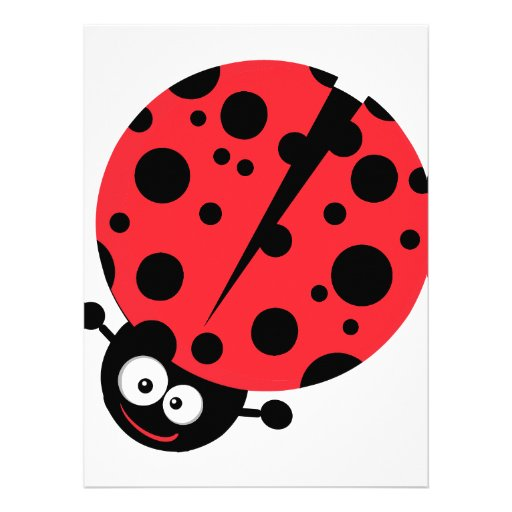 cute little goofy ladybug with lots of spots personalized invites
