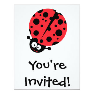 cute little goofy ladybug with lots of spots invite
