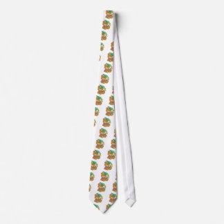Cute little graduate graduation teddy bear design tie