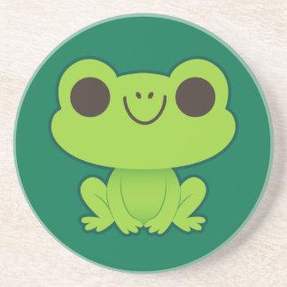 Cute Little Green Frog Coaster