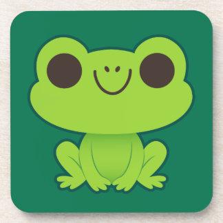 Cute Little Green Frog Drink Coaster