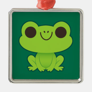 Cute Little Green Frog Christmas Ornaments
