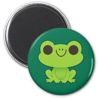 Cute Little Green Frog Magnet