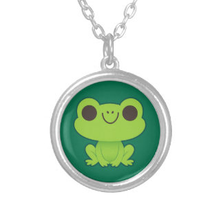 Cute Little Green Frog Personalized Necklace