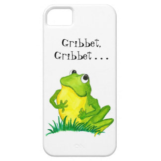Cute Little Green Frog on White iPhone 5 Cover